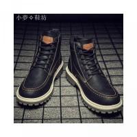 Martin Sepatu Boots Pria Model High Top Warna Polos