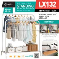 LX132 Rak 2 Row Serbaguna Gantungan Pakaian Baju Sepatu / Hanger Topi