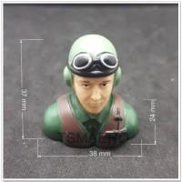 Boneka Pilot penerbang WWII Germany Luftwaffe Pilot 373824 green