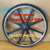 Velg pelek racing kursi roda,ukuran 24 × 1 3/8 sparepart kursi roda