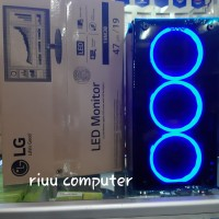 PC GAMING CORE I5 RAM 8 GB WITH LED 19 IN MONITOR SIAP PAKAI