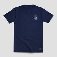 Kaos Warna Navy Glow In The Dark Terbaru Merek Upstain Wear Original