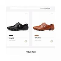 Pengiriman 24 JamUkuran Besar 38~47 Sepatu Bisnis Bahan Kulit Sapi Asl