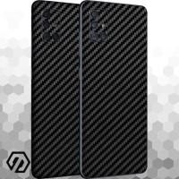 [EXACOAT] Galaxy A51 3M Skin / Garskin - Carbon Fiber Black
