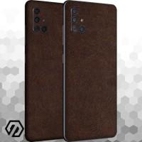 [EXACOAT] Galaxy A51 Skin / Garskin - Leather Brown
