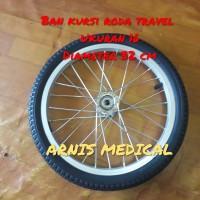Ban kursi roda travel Ukuran 16 Sparepart kursi roda