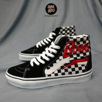 Sneakers Vans Sk8-Hi Checkerboard x David Bowie Black/White