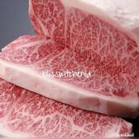 Japanese Wagyu Beef Sirloin A5 / A4 Steak 1cm 200gr