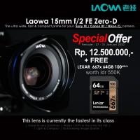 Laowa Venus 15mm f/2 FE Zero-D Camera Lens for Canon RF