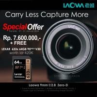 Venus Laowa lensa 9mm f/2.8 f2.8 Zero-D for Fuji X mount