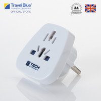 Travel Blue World to Europe (Schuko) Travel Adaptor - Earthed TB901