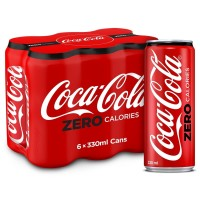 COCA COLA ZERO SUGAR CAN 6X330ML