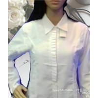 Kemeja formal putih rempel samping