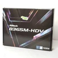 Asrock B365M-HDV Intel Gen 8 & 9 Garansi 3 Tahun