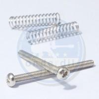 Sepasang Skrup Baut dan Per Untuk Pickup Humbucker diameter 3 mm