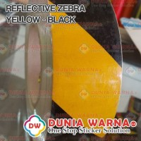 Reflective Sticker Zebra Yellow Black Scotchlite Safety Police 5 cm