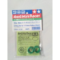 Tamiya 15192 - O-Ring Set For 17/19mm Rollers (Green)