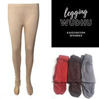 Celana Legging Wudhu kaos rayon spandex