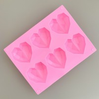 Heart Gem Silicone Mould Hati Mold Cetakan