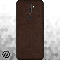 [EXACOAT] Oppo A5 (2020) / A9 (2020) Skin / Garskin - Leather Brown