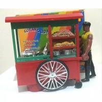 mainan gerobak bakso loncat mainan abang tukang bakso
