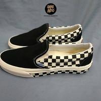 Sneakers Vans Slip On Side Wall Checkerboard Black/White