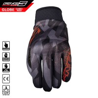Sarung Tangan FIVE Globe Gloves Camo Fluo Red