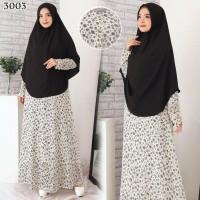 Baju Gamis Syari Syar'i Set Baju Gamis Wanita 3003