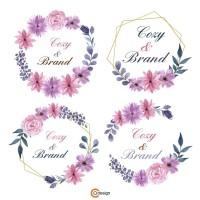 Jual Desain Logo Murah Desain Logo Olshop Violet Flower Logo Kota Pekalongan Brandcozy Tokopedia