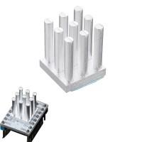 Bs 10*10*12.5mm Radiator Cooling Block Square Heatsink for