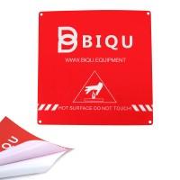 Bs BIQU 220*220mm Red Scrub Heated Bed Sticker Build Plate