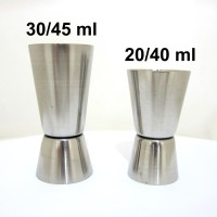 Stainless Cocktail Jigger Gelas Ukur Takar 40/20 ml atau 30/45 ml