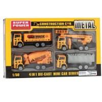 diecast construction metal truck konstruksi truk mixer crane dll