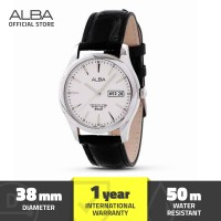 Jam Tangan Analog Leather Pria Alba Axnd63 Original
