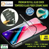 CUBIC Premium Full Tempered Glass Fiber iPhone XS Max / XR / X - XS