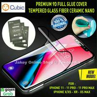 CUBIC Premium Full Tempered Glass Fiber iPhone 11 Pro Max 11 Pro 11