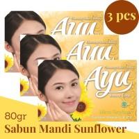 Ayu Beauty Soap 80gr banded 3 Pcs Sabun Mandi Warm Sunflower Kuning