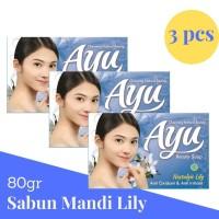 Ayu Beauty Soap 80gr banded 3 Pcs Sabun Mandi Nostalgic Lily Biru Blue