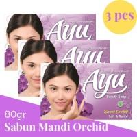 Ayu Beauty Soap 80gr banded 3 Pcs Sabun Mandi Sweet Orchid Ungu Violet