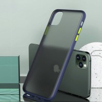 iPhone 11 shockproof hybrid smoky tranparent color button