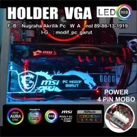 HOLDER VGA BRACKET GPU 3D MSI LOGO COSTUM SYNC MOBO ASUS ASROCK GIGABY