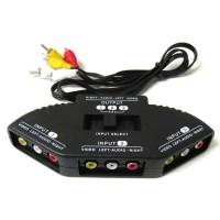 Switch Box RCA 3 Input 1 Output + Kabel AV RCA SkiDa TV