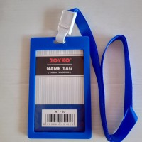 Joyko ID Card Holder 54 x 90 mm Potrait + Lanyard NT-52 Blue