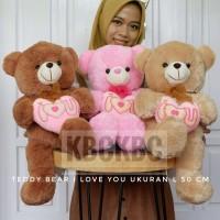Boneka Teddy Bear ILOVEYOU L