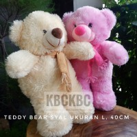 Boneka Teddy Bear Syal Ukuran L