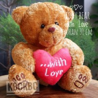 Boneka Teddy Bear lucu imut with love