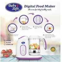 Baby Safe Digital Food Maker LB 02 Steam Blend Makanan Bayi MPASI