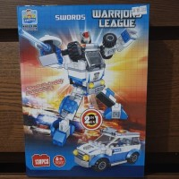 mainan lego robot transformers 2in1 police car fire truck pesawat jet