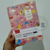 NEW NOTEBOOK DIARY JOURNAL MINISO WITH PEN (PINK)