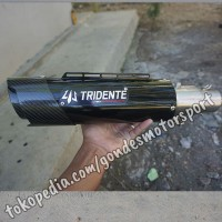 Knalpot Tridente F20 3 Suara 250 cc Silincer Only Stainless